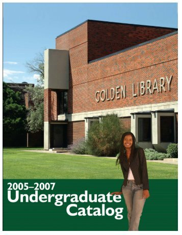 2005–07 Catalog - Eastern New Mexico University