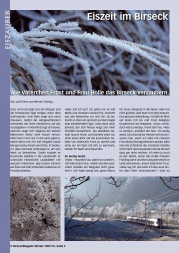 Eiszeit im Birseck - Birseck Magazin