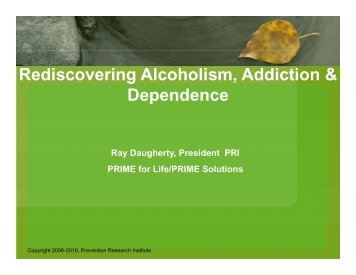 Rediscovering Alcoholism, Addiction & Dependence - Ireta