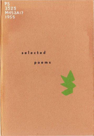 Selected Poems - Arras.net