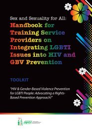 Handbook for Training Service Providers on Integrating ... - SAfAIDS