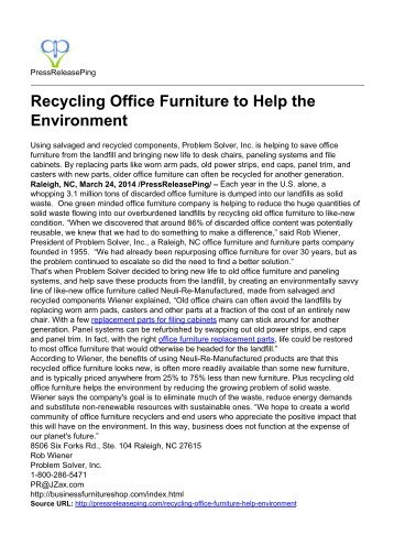 Recycling Office Furniture to Help the Environment