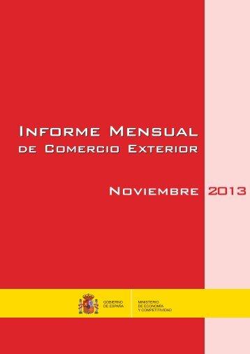 INFORME COMEX MENSUAL NOV 2013  con nipo 2014