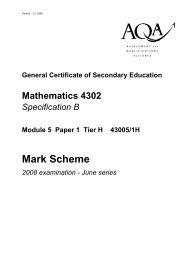 (Modular) Specification B Module 5 Paper 1 Higher Mark Scheme ...
