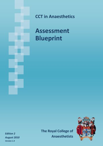 Preoperative anaesthetic assessment medical education at associated assessment blueprint for anaesthetics training basic to malvernweather Choice Image