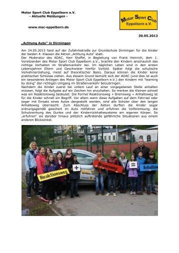 Achtung Auto - MSC Eppelborn