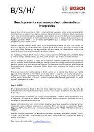 Bosch presenta sus nuevos electrodomésticos ... - Bosch Argentina