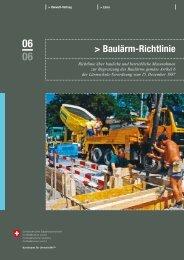 Baulärm-Richtlinie - KSE Bern