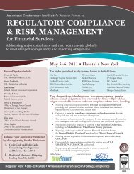 regulatory compliance & risk management - Shulman, Rogers ...