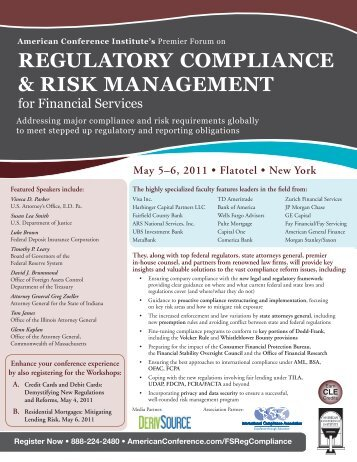 regulatory compliance & risk management - Shulman, Rogers ...