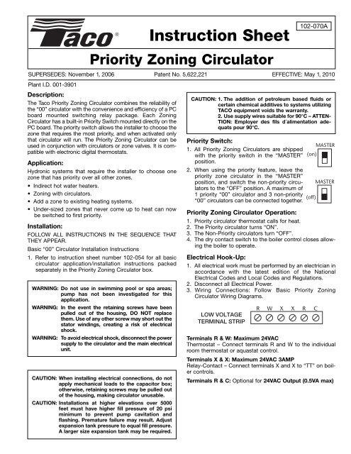 Priority Zoning Circulator - PexSupply.com on taco aquastat wiring, taco controller wiring, taco pump wiring, taco controls wiring, taco zone valve wiring diagram, taco relay wiring,
