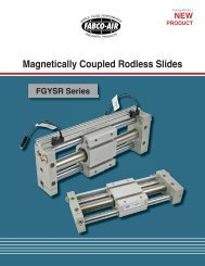 Magnetically coupled rodless slides FGYSR Series - Fabco-Air, Inc.