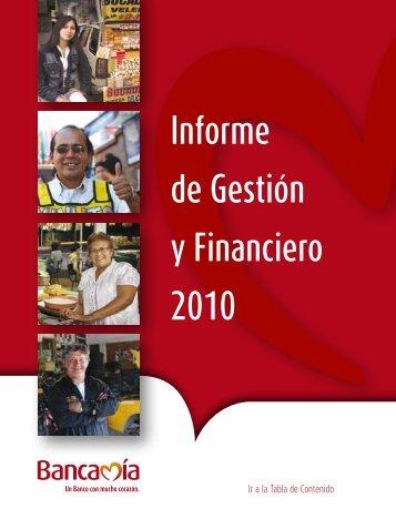 Informe de Gestión(PDF) - Bancamía