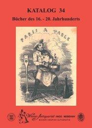 KATALOG 34 - International League of Antiquarian Booksellers