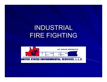 INDUSTRIAL FIRE FIGHTING - U.S. National Response Team (NRT)