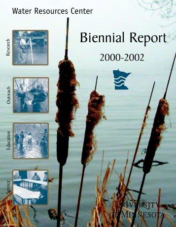 2000-2002 - Water Resources Center - University of Minnesota