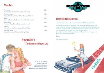 Cocktails - AmeriCars – Bar und Lounge