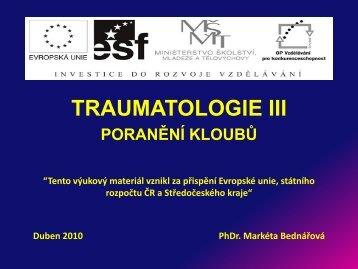 Traumatologie III