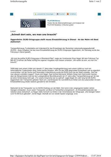 Seite 1 von 2 Artikeltextausgabe 13.07.2010 http://digipaper ...