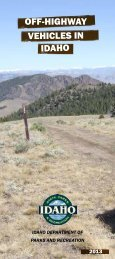 idaho off-highway vehicles in - Idaho State Parks and Recreation ...