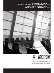 CPSM Exam Information and Registration Brochure - Institute for ...