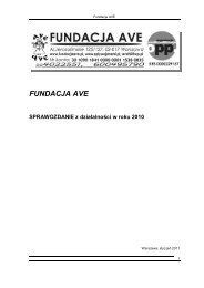 FUNDACJA AVE - Wyszukiwanie Organizacji Pożytku Publicznego