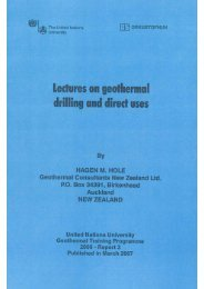 lectures on geothermal drilling and direct uses - Orkustofnun