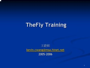 TheFly Training - Computer Graphics Laboratory