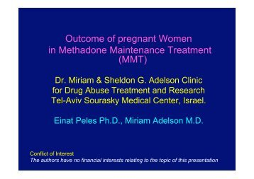 Outcome of pregnant Women in Methadone Maintenance Treatment ...
