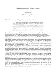 1 From Bounded Rationality to Behavioral Economics Massimo ...