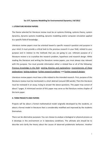 short literature review