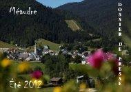 D O S S I E R D  E P R E S S E - Office du tourisme de Méaudre