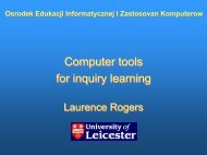 Computer tools for inquiry learning