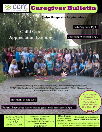 SUmmer 2013.pub - Child Care Resource and Referral