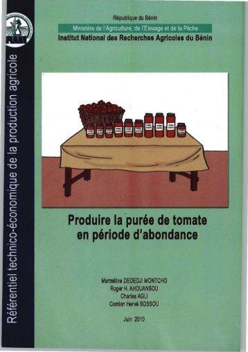 Produire la purée de tomate en période dabondance - eRails