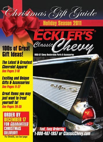 100s of Great Gift Ideas! - Eckler's Classic Chevy