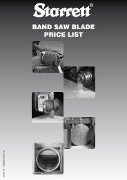 BAND SAW BLADE PRICE LIST - Starrett