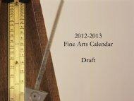 Fine Arts Calendar 2012/2013 - Boyertown Area School District