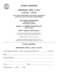 View Flyer - Professional Landmen's Association of New Orleans
