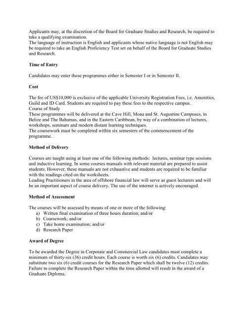 Faulty of Law - Uwi.edu