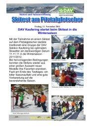 DAV Kaufering startet beim Skitest in die Wintersaison