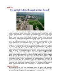 Profile of CSSRI - Central Soil Salinity Research Institute