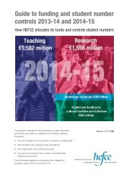 Guide to funding and SNCs 2013-14 and 2014-15