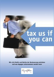 Tax Us If You Can - ATTAC - Suisse