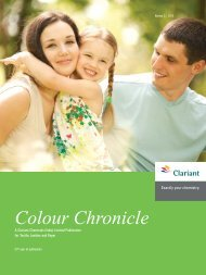 Colour Chronicle - Sept 2012 - Clariant