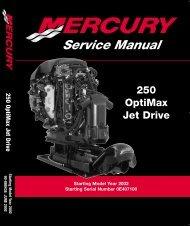 250 OptiMax Jet Drive Manual