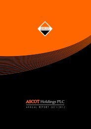 Annual Report 2011/2012 - Colombo Stock Exchange