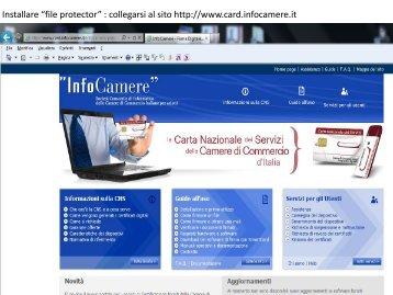 """Installare """"file protector"""" : collegarsi al sito http://www.card ..."""