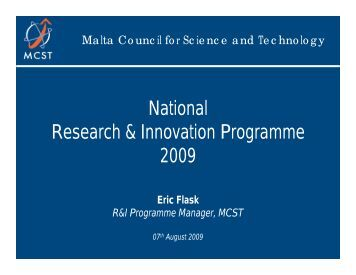 National Research & Innovation Programme 2009 - The Malta ...