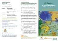 16. Welt- Alzheimertag - Betrieb für Sozialdienste Bozen